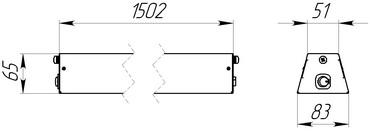 Линейный низковольтный светодиодный светильник для освещения производств и рабочих мест
