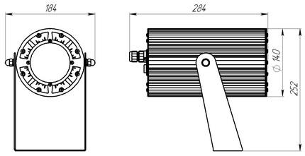 Светодиодный светильник для фасадного, прожекторного, торгового  и акцентного освещения