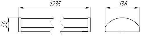 Габаритные размеры светильника Лана-2-У-60
