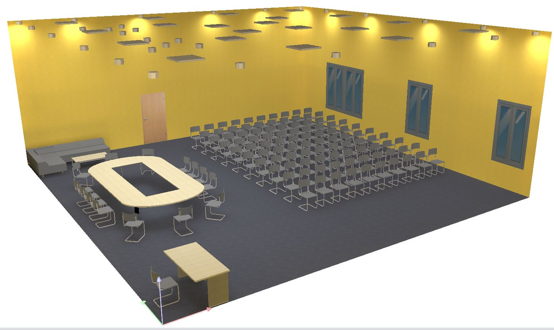 Расчёт освещённости конференц зала. Расчёт освещения.