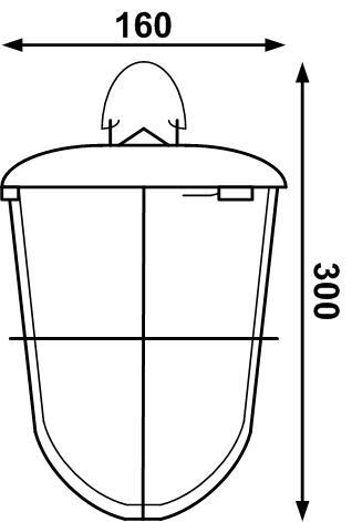 Светодиодный светильник подвесной  для подсобных помещений