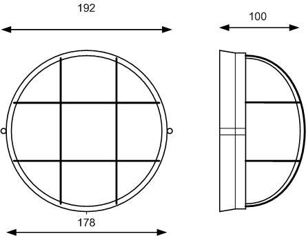 Светодиодный светильник для ЖКХ и подсобных помещений