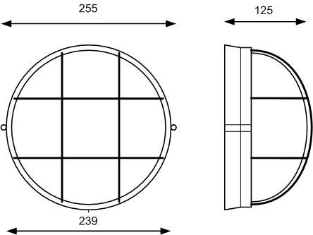 Светодиодный светильник для ЖКХ, антивандальный