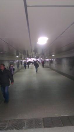 Светодиодный светильник для освещения подземных пешеходных переходов