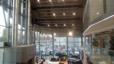 Освещение автосалона,нормативы освещения автосалонов,качественное светодиодное освещение автосалонов,проекты освещения автосалонов