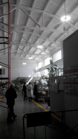 Подвесной промышленный светодиодный светильник Октон
