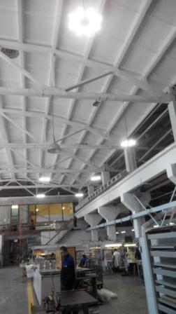 Промышленный подвесной светодиодный светильник Октон